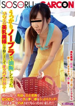 GS-105 inadvertently not accumulate patience to arouse breasts wife youve been careless with no bra