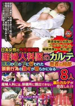 KTDV-310 Studio KT Factory Gynecologist's Chart: 8 Patients' Private Parts